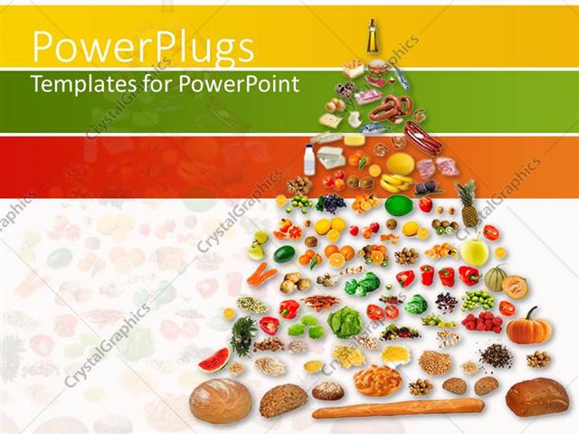 Powerpoint template pyramids of fruits and vegetables 12805 powerpoint template displaying pyramids of fruits and vegetables toneelgroepblik Choice Image