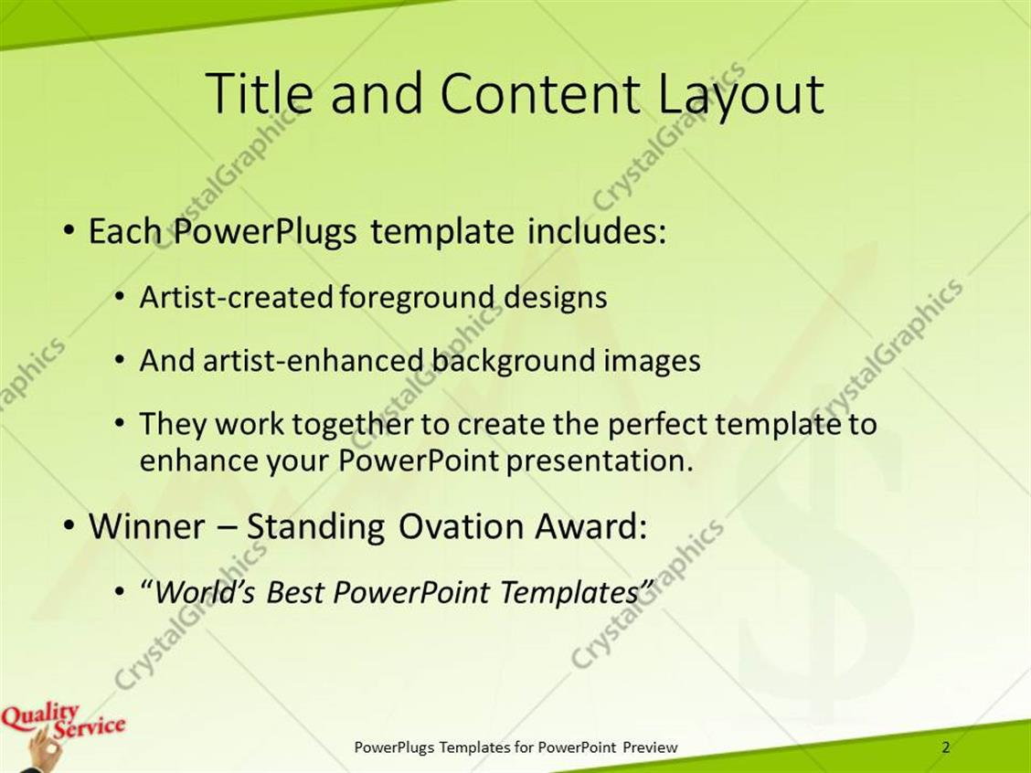 Powerpoint template quality service with hand okay sign with powerpoint products templates secure standing ovation award toneelgroepblik Choice Image