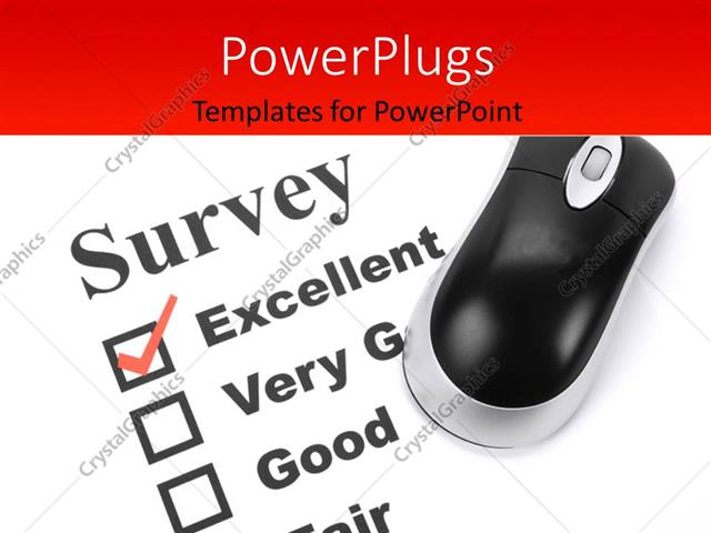 Powerpoint template questionnaire and computer mouse close up powerpoint template displaying questionnaire and computer mouse close up with feedback options toneelgroepblik Gallery