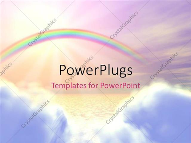 Powerpoint template a rainbow in the background with place for powerpoint template displaying a rainbow in the background with place for text toneelgroepblik Images
