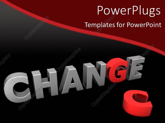 Powerpoint template red letter g in gray word change next to red powerpoint template displaying red letter g in gray word change next to red letter c toneelgroepblik Choice Image