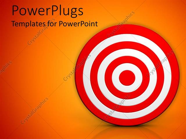 bullseye template printable - powerpoint template red and white bulls eye target on