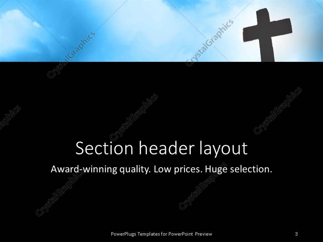 Powerpoint template religious theme with silhouette of cross near powerpoint products templates secure toneelgroepblik Image collections