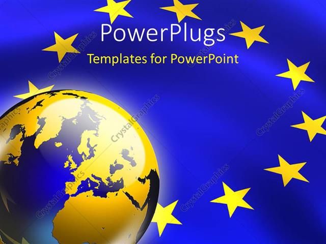 powerpoint template: the representation of european union along, Modern powerpoint
