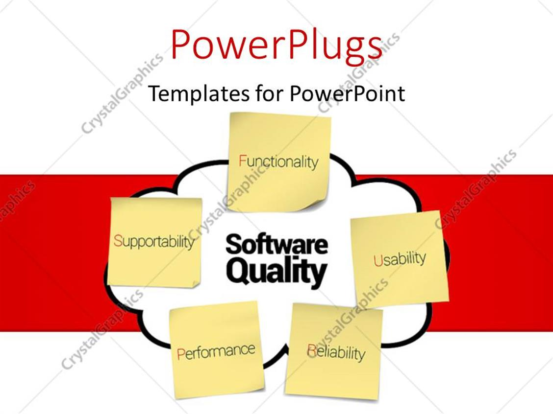 Powerpoint Template Representing Software Quality