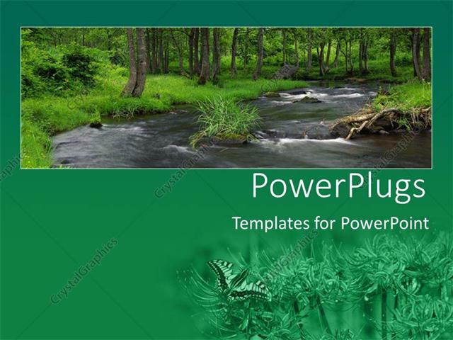 Powerpoint template river flowing in middle of green forest with powerpoint template displaying river flowing in middle of green forest with wild flower field toneelgroepblik Gallery