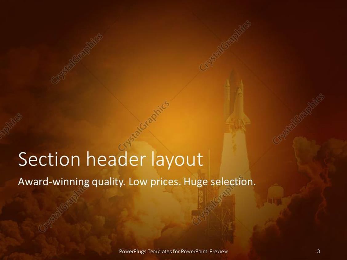 powerpoint template: rocket launching with so much white smoke all, Presentation templates