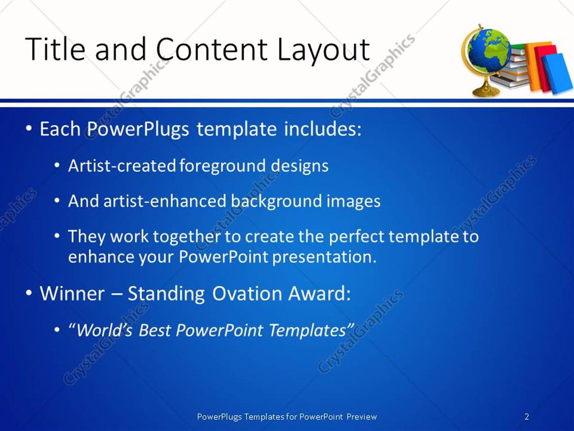 Award winning powerpoint templates gallery templates example awards powerpoint template financial loan agreement template powerpoint template school globe of planet earth and pile toneelgroepblik Image collections