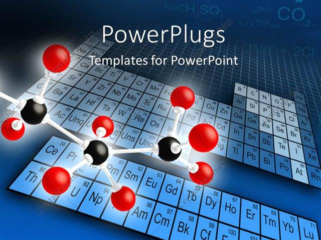 powerpoint template: science concepts of molecular structure with, Modern powerpoint
