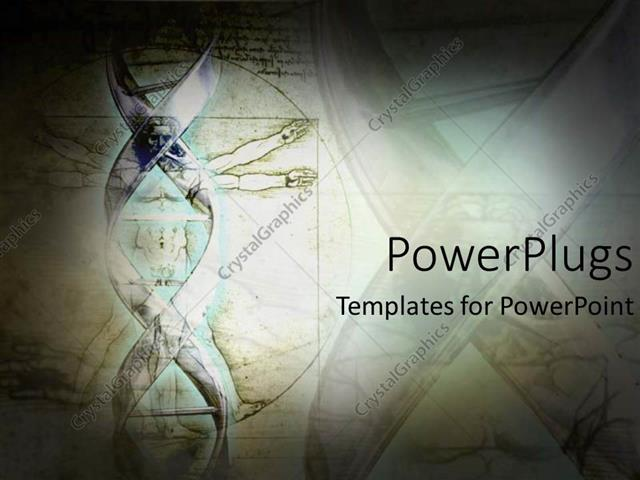 powerpoint template science and dna double helix structure for, Powerpoint
