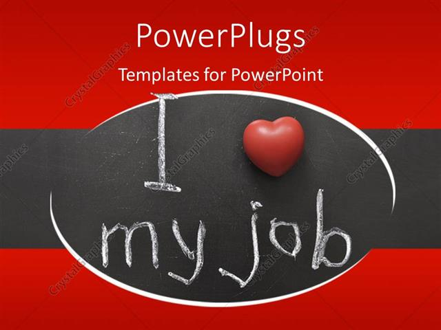 Powerpoint template the sentence of i love my job presented powerpoint template displaying the sentence of i love my job presented visually toneelgroepblik Gallery