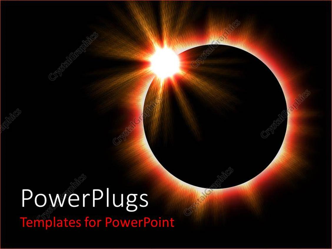 powerpoint template a shot of a complete solar eclipse in space 26749. Black Bedroom Furniture Sets. Home Design Ideas