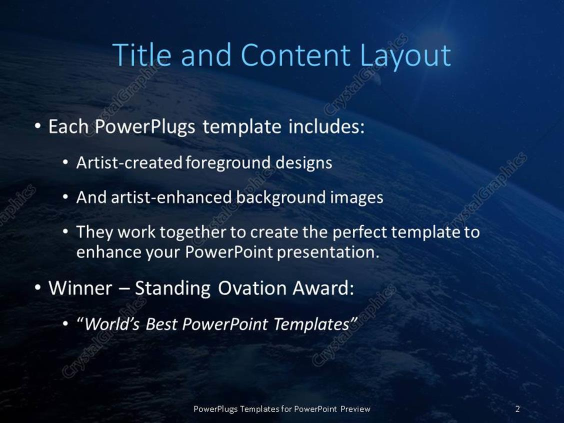 powerpoint template: sight of earth from the space and planet, Presentation templates