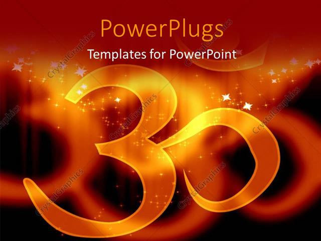 powerpoint template the sign of hinduism and its