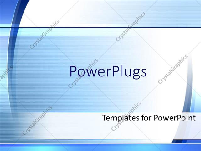 PowerPoint Template Displaying Simple Modern Blue and White Background Fading