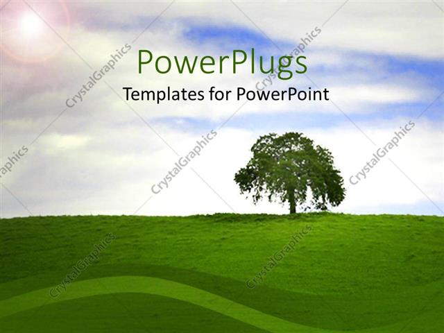 United People around Earth Powerpoint Template