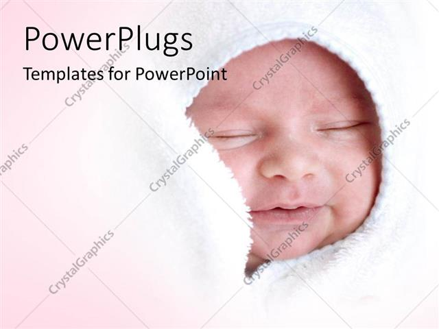 Baby powerpoint templates autodiet powerpoint template a small baby smiling and wrapped with a white template designer toneelgroepblik Choice Image