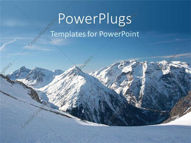 Mountain powerpoint template bellacoola powerpoint template snowy mountains snow on mountain peak blue powerpoints templates toneelgroepblik