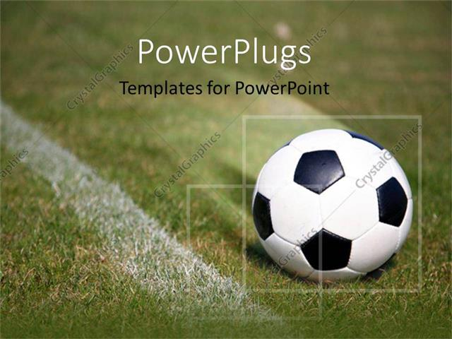 Powerpoint Template: Soccer Ball On Field (27189)