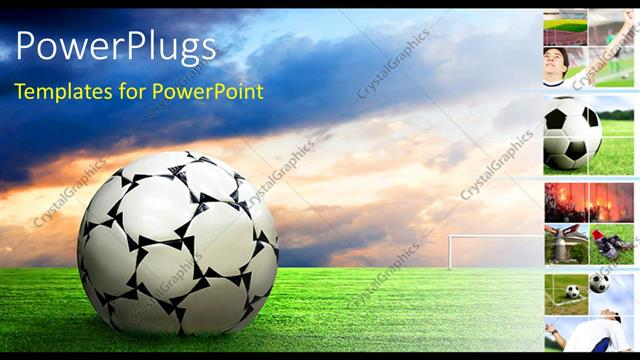 powerpoint template: soccer ball football sport game collage (26651), Powerpoint templates