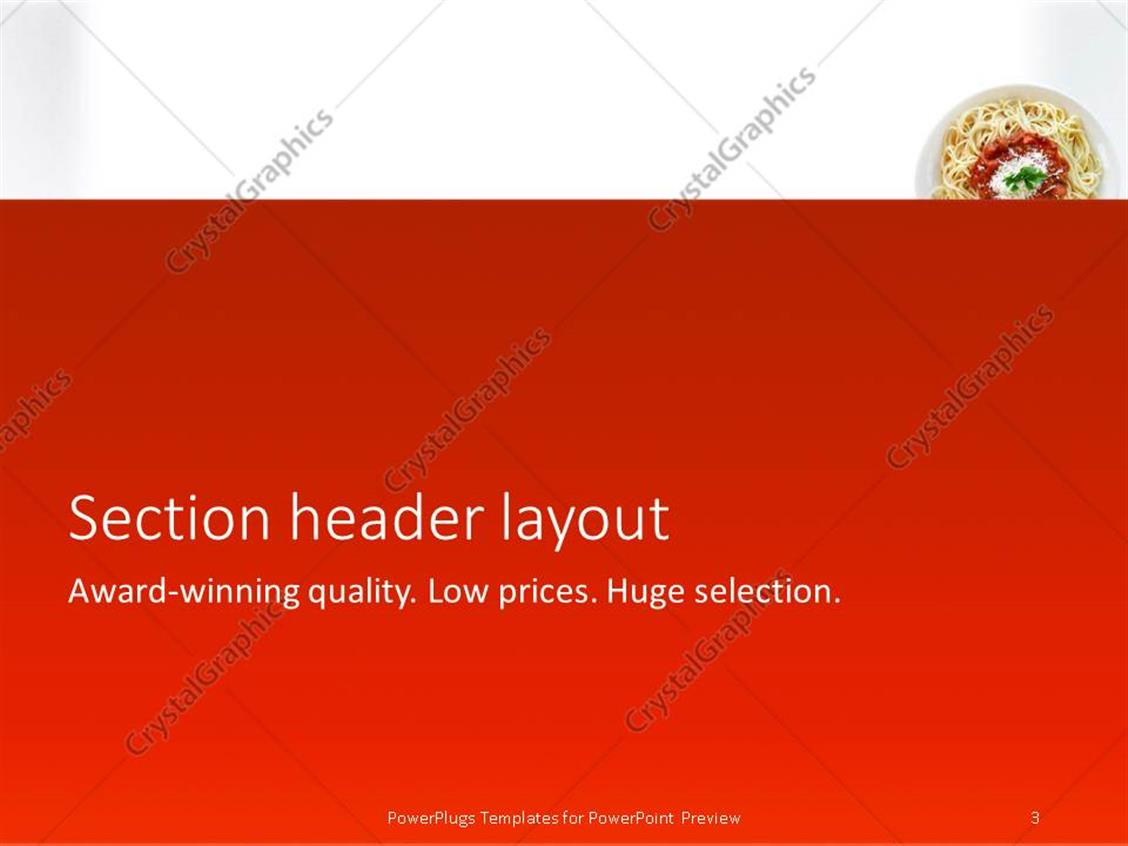 powerpoint template: spaghetti with tomato sauce (12722), Modern powerpoint