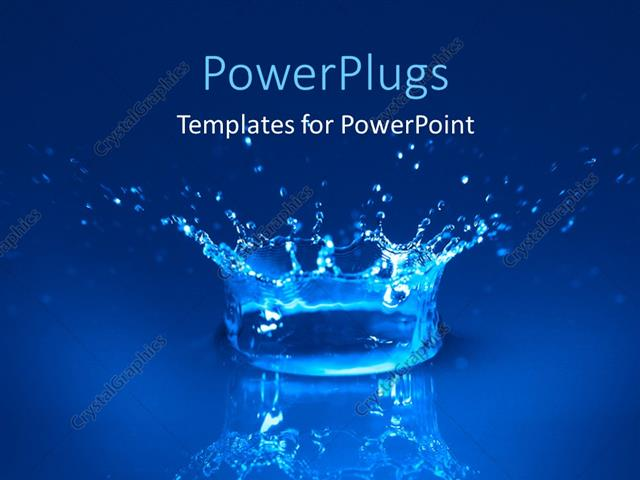 Powerpoint Template Splash Of Water Spreading Water Drops All