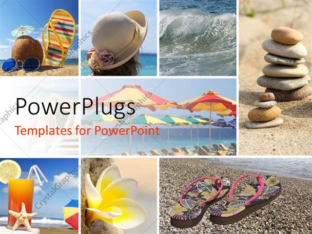 Powerpoint Template: Summer Holiday Collage With Different