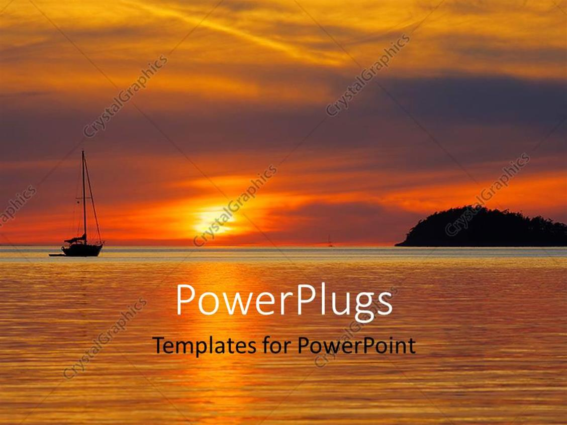 powerpoint template a sunset in the background with a