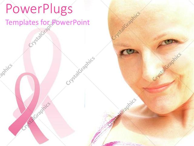 PowerPoint Template Displaying Supportive Women Health