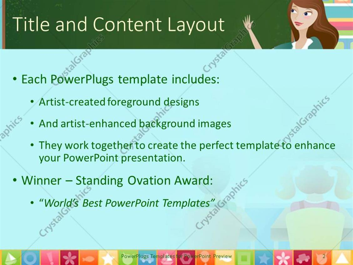 Powerpoint template teacher and three pupils in classroom with powerpoint products templates secure toneelgroepblik Choice Image