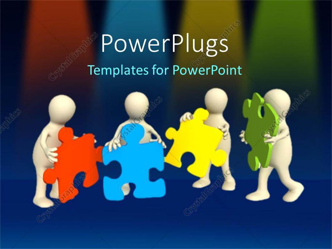 Powerpoint template a team of people putting together for Team building powerpoint presentation templates