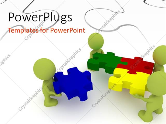 Powerpoint template team of three human character solving puzzles powerpoint template displaying team of three human character solving puzzles with white puzzle in toneelgroepblik Image collections