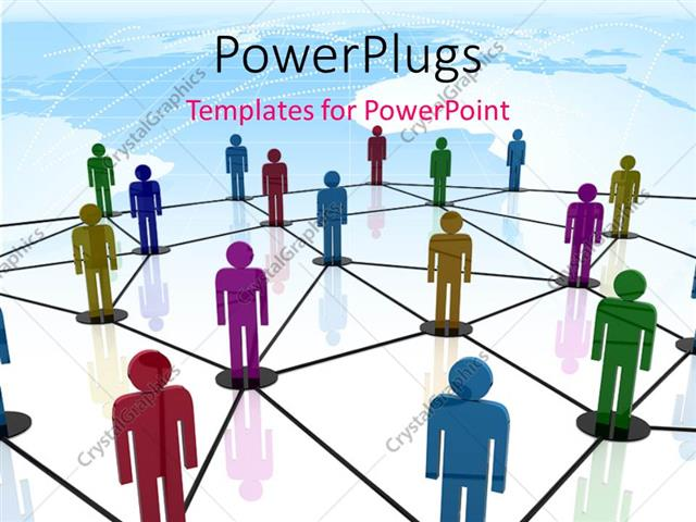 Powerpoint template teamwork depiction with 3d colored people powerpoint template displaying teamwork depiction with 3d colored people linked together in circles toneelgroepblik Choice Image