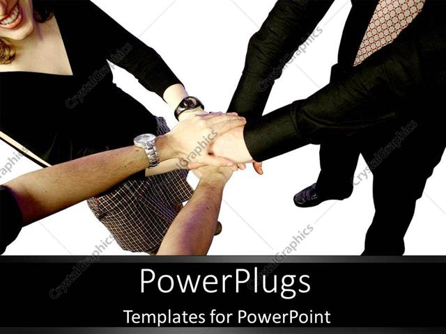 PowerPoint Template: teamwork holding hands together ...