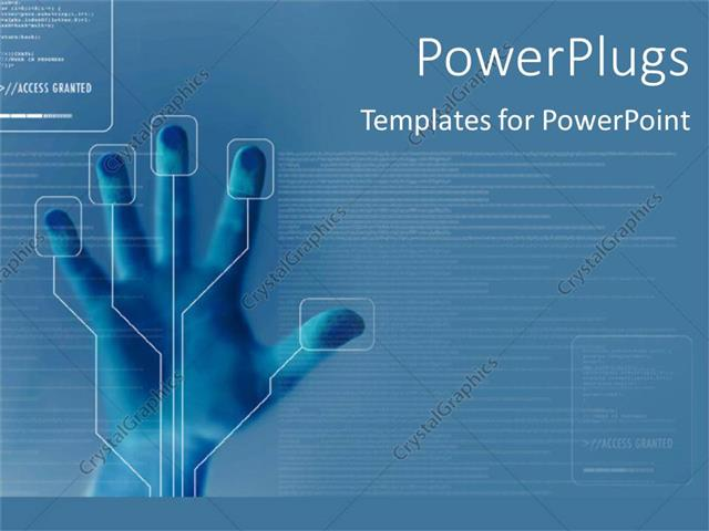 Powerpoint Template Technology For Finger Printing