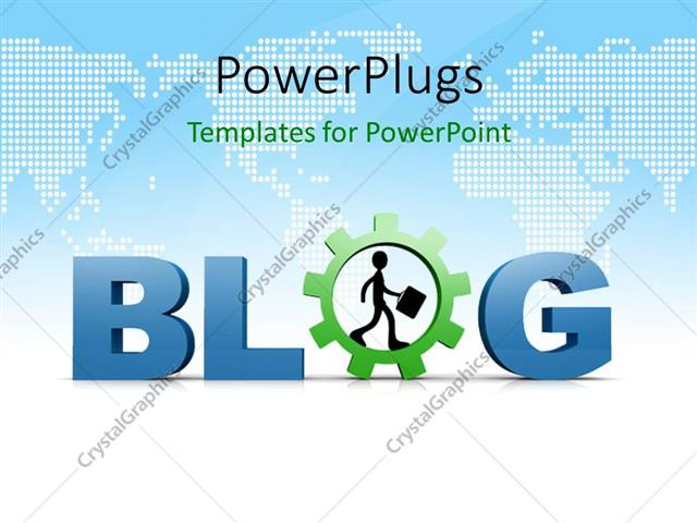 PowerPoint Template Displaying a Text which Spells Out the Word