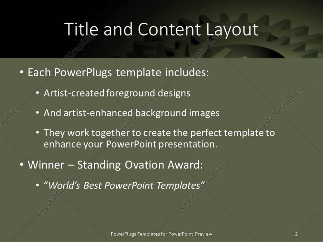 powerpoint template mechanical gears for best house planning, Modern powerpoint