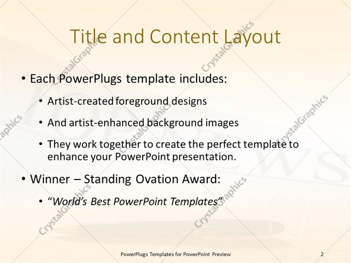 magnificent powerpoint newspaper template gallery - resume ideas, Modern powerpoint