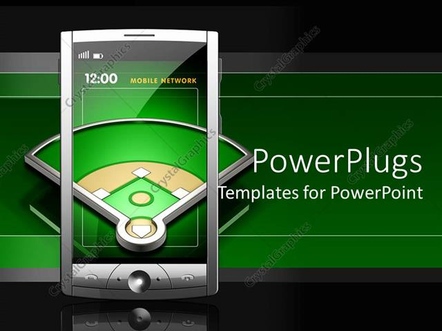 Powerpoint Template Transparent Screen Touch Screen Smartphone