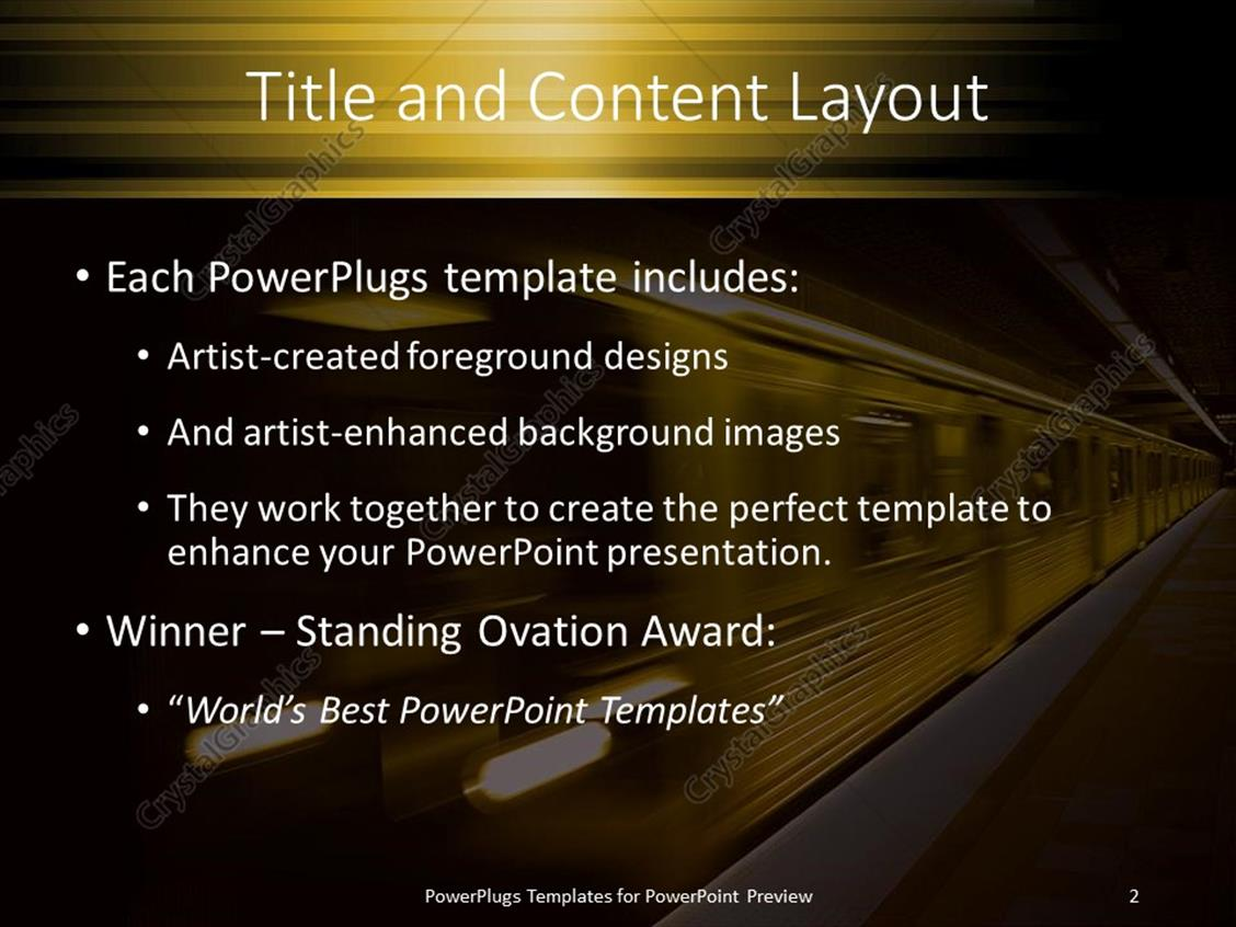 Powerpoint template transportation theme with yellow subway train powerpoint products templates secure toneelgroepblik Images