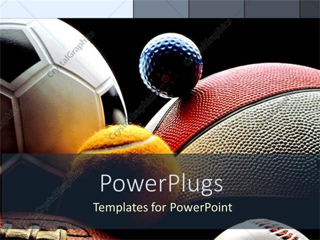 Powerpoint Template Various Balls American Football Basketball