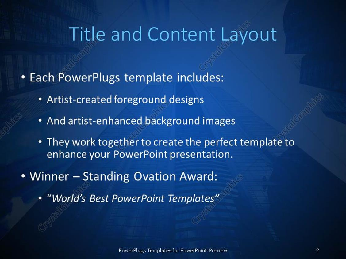 powerpoint template: view looking up from bottom of large, Powerpoint templates