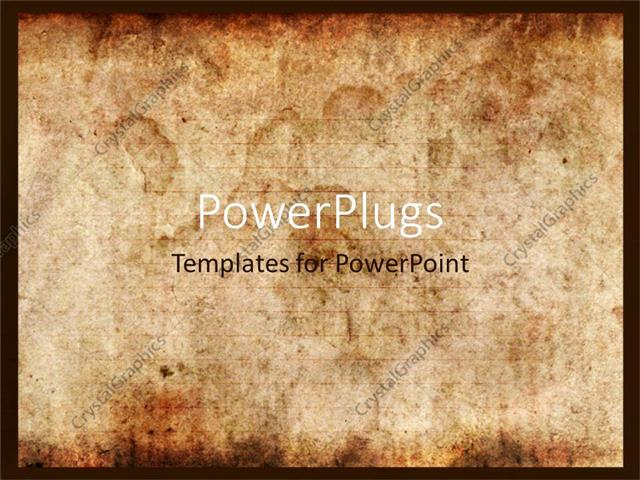 powerpoint template: vintage background of old paper with signs of, Powerpoint templates