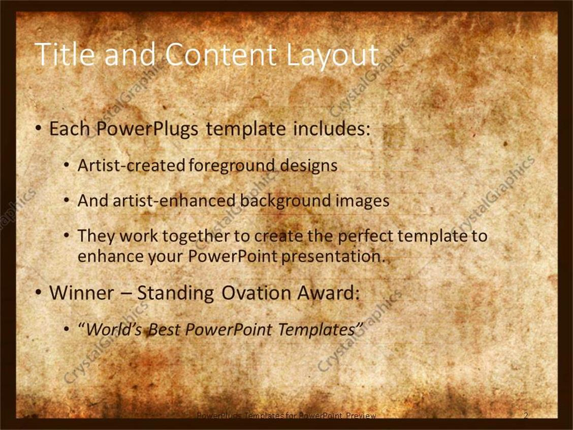 Powerpoint template vintage background of old paper with signs of powerpoint products templates secure toneelgroepblik Gallery