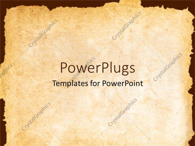 Powerpoint template vintage background showing old paper with powerpoint template displaying vintage background showing old paper with irregular margins toneelgroepblik Choice Image