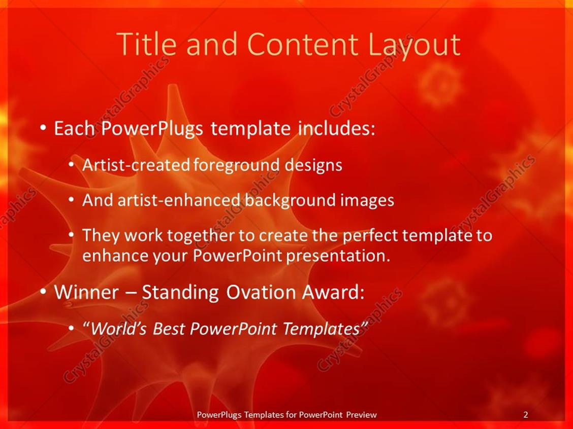 Powerpoint template viruses in blood 30743 powerpoint products templates secure standing ovation award toneelgroepblik Choice Image