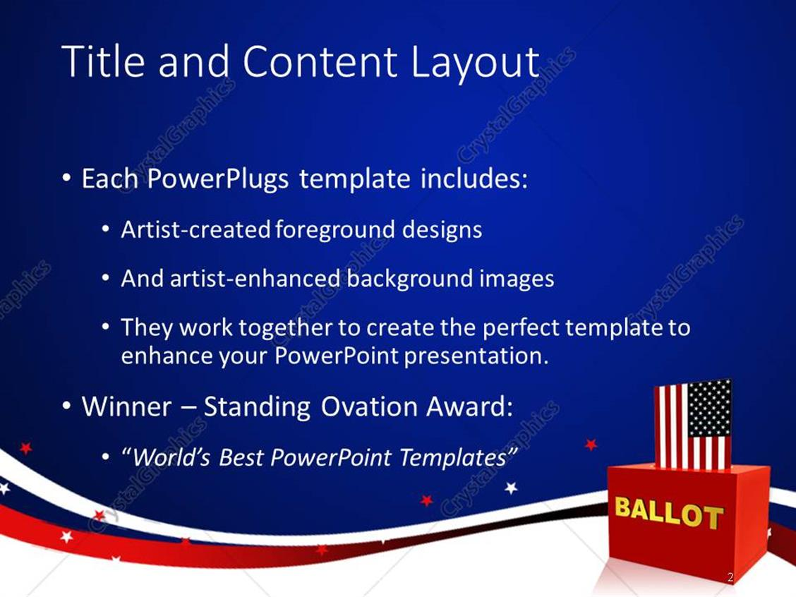 Powerpoint template vote theme american flag inserting into a red powerpoint products templates secure toneelgroepblik Image collections