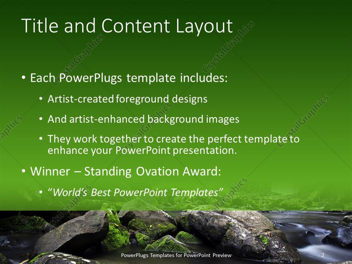 Waterfall Template Powerpoint