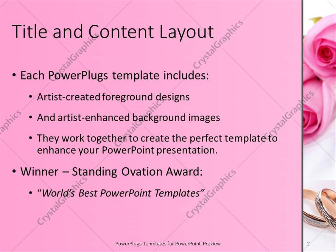 Powerpoint Templates Wedding