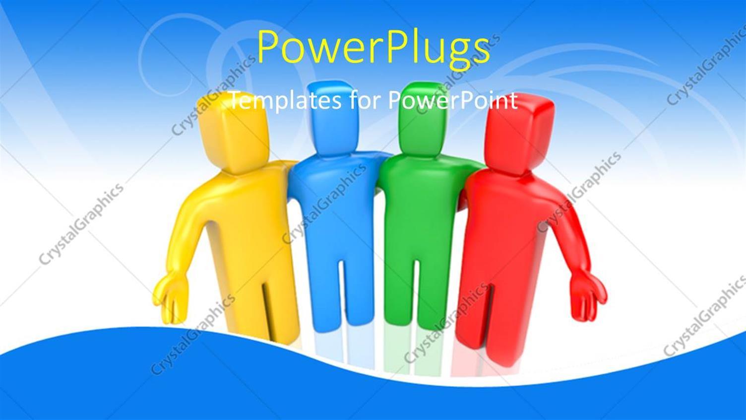 Powerpoint template colorful 3d men displays teamwork on abstract powerpoint template displaying colorful 3d men displays teamwork on abstract blue background toneelgroepblik Choice Image